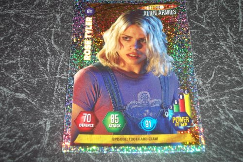 DOCTOR WHO. ALIEN ARMIES. PANINI TRADING CARD. 2004. VGC. G11 Rose Tyler Children of Time Tooth and Claw.