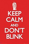 "Doctor Who Poster ~ Keep Calm and Don't Blink ~ 24×36"" Rolled mint"