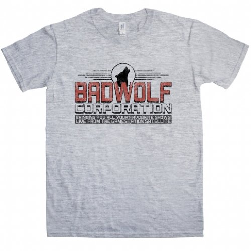 Inspired by Doctor Who t shirt – Bad Wolf – X-Large – Silver