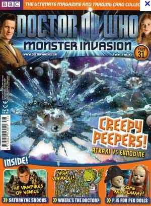 DOCTOR (DR) WHO MONSTER INVASION MAGAZINE PARTWORK ~ ISSUE 31 – CREEPY PEEPERS ~ PLUS EXTREME FOIL PACKET