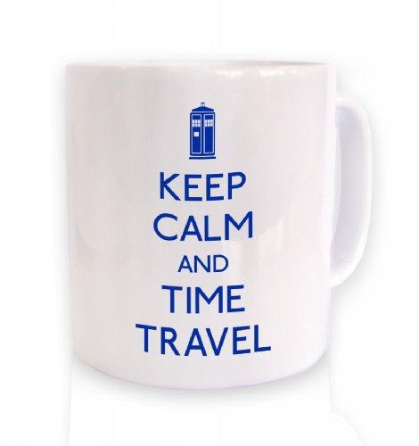 Keep Calm And Time Travel Mug (Standard Size Mug/White Mug)