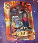 RARE Boxed DOCTOR WHO Rose Tyler and K9 K-9 action figure pack set Character