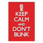 A1+ maxi satin poster: DOCTOR WHO DR KEEP CALM AND DON'T BLINK ANGELS