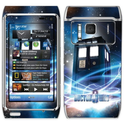 Diabloskinz Vinyl Adhesive Skin,Decal,Sticker for the Nokia N8 – The Tardis