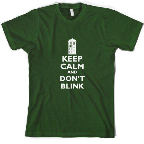 Keep Calm And Don't Blink – Mens T-Shirt-Bottle-Medium