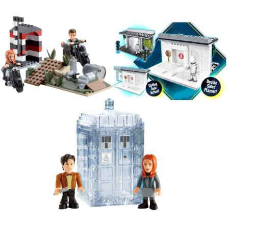 Character Building 3 x Mini Sets – Doctor Who in Berlin – The Girl Who Waited – Dematerialising Tardis