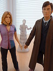 DOCTOR WHO DAVID TENNANT ROSE TYLER BILLY PIPER PLUS ANGEL FIGURE