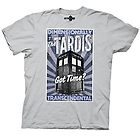 Doctor Who Dimensionally Transcendental Grey Mens T-Shirt Tee Top TARDIS
