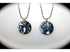 Doctor Who Cyberman Cybermen  –  2 sided necklace