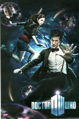 The Eleventh Doctor, Matt Smith, Amy And The Dcotor In A Vortex, Full Colour Maxi Poster 61×91.5cm