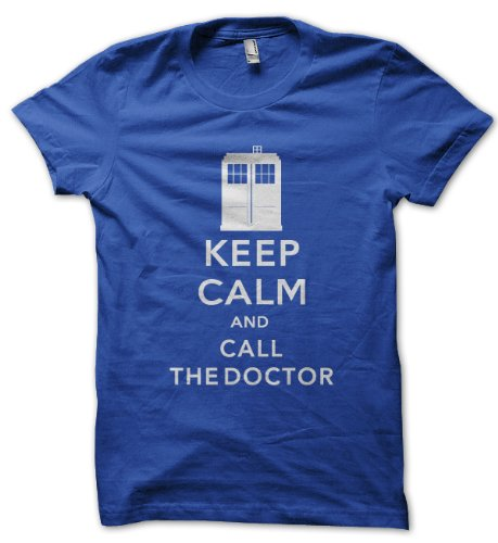 Keep Calm And Call The Doctor Royal Blue T-shirt (XX-Large)