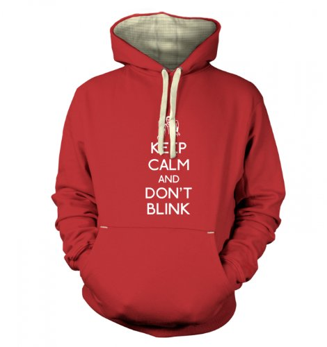 Keep Calm And Don't Blink Premium Hoodie (Small (40″ Chest)/Dusty Red)