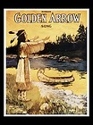 "Canvas art print ""11×14"" Golden Arrow Music Cover-Indian Maiden Song Canoe River"