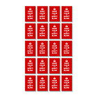Vinyl sticker 20 (4.5x3cm): KEEP CALM AND DON T BLINK RED SCARLET RUBY WW2