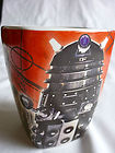 fabulous Doctor Who Square Mug With Daleks Judoon Scarecrow  EXCELLENT CONDITION
