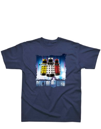 Doctor Who T-Shirt, Doctor Who Kids T-Shirt, Dr Who Classic Daleks Blue, Age 7 – 8, Chest 33 – 34″
