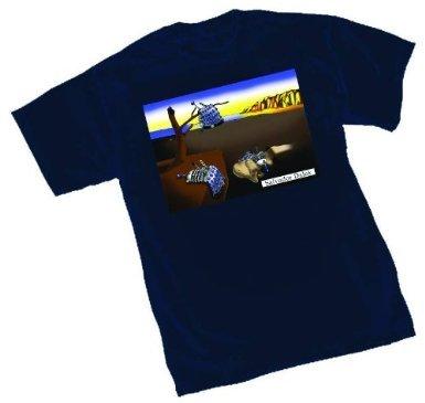 Doctor Who Salvador Dalek Navy T-Shirt | S