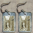 Edgar Allan Poe weeping RAVEN Gustave Dore Halloween Angel Art Charm EARRINGS