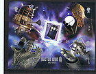 Dr Who 2012 50th Anniversary Mini-sheet – Daleks, Oud, Cyberman & Weeping Angel