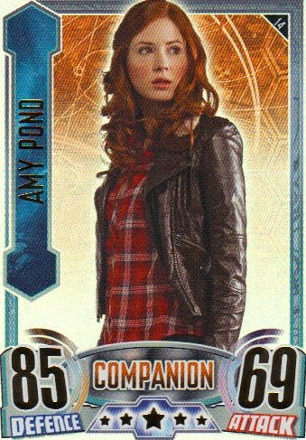 Doctor Who Alien Attax Topps – Rainbow Foil 014 Amy Pond