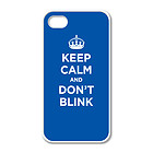 White case for iPhone 5: KEEP CALM AND DON T BLINK BLUE NAVY AZURE WW2 WWII