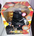 """DR WHO LARGE SCALE 12"""" RADIO CONTROL BLACK DALEK BOXED AND WORKING REMOTE ACTIVE"""