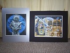 DR WHO CYBERMAN AND DALEK PRINTS FROM STOCKTON-ON-TEES DR WHO CONVENTION 2006