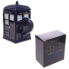 NEW POLICE BOX MUG WITH LID TARDIS DOCTOR WHO SHAPED CERAMIC CUP NOVELTY COFFEE