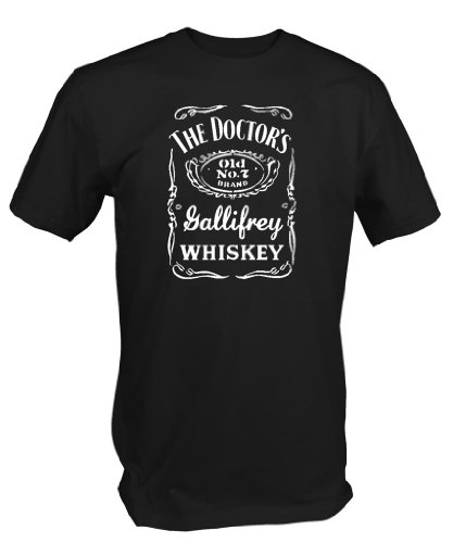Doctor's Gallifrey Whiskey T Shirt Inspired by Dr Who (Large)
