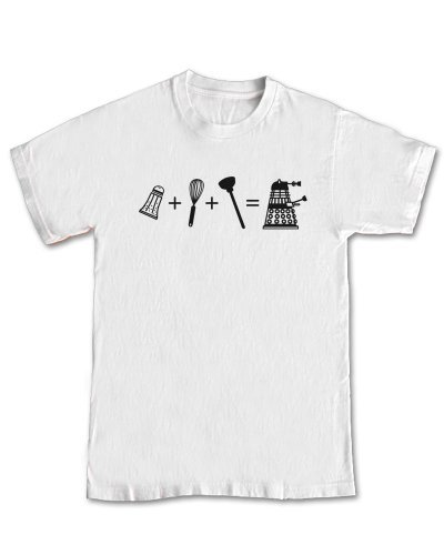 Dr Who 'Dalek Equation' GEEK T-shirt (L – Large)