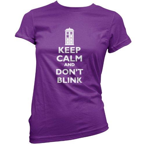 Keep Calm And Don't Blink – Womens T-Shirt-Purple-XXL