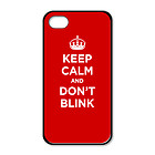 Rubber case for iPhone 5: KEEP CALM DON T BLINK RED SCARLET RUBY WW2 WWII