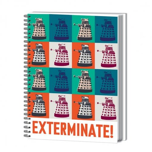 Doctor Who A4 Exterminate Notebook