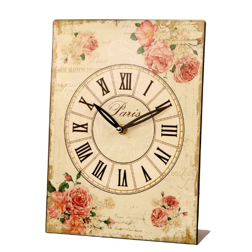 Landon Tyler Rose Design Metal Clock