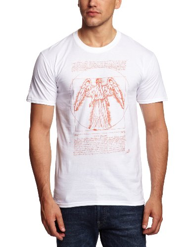 Bravado Doctor Who – Weeping Angel Men's T-Shirt White Large