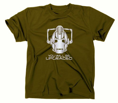 #1 Cybermen You Will Be Upgraded T-Shirt, doctor who, tardis, cyberman, M, oliv