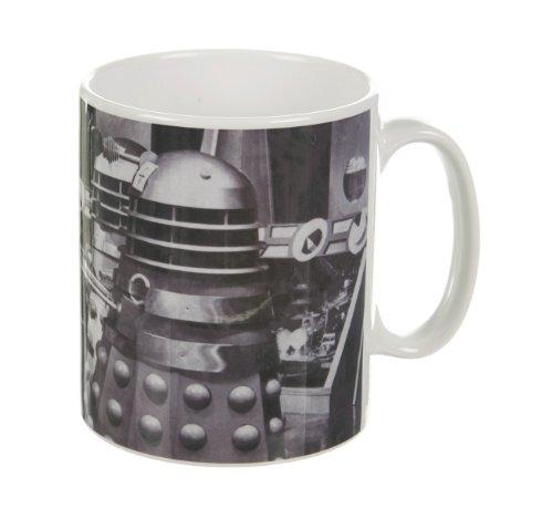 Black And White Daleks Doctor Who Mug