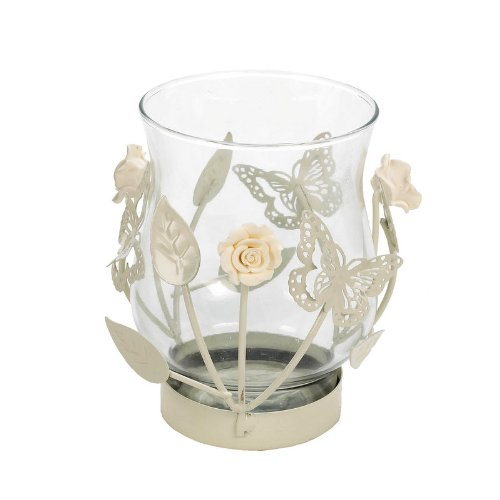 Landon Tyler 12.5 cm Candle Holder with Butterfly and Rose