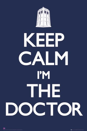 Keep Calm and Carry On Doctor Who Maxi Poster 61×91.5cm