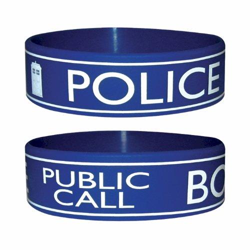 Trendy Doctor Dr Who Wristband Bracelet – Tardis Police Box Design