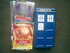 DR WHO MINI TARDIS TIN + 50 TRADING CARDS (10 ARE SHINEY RARE) BATTLES IN TIME