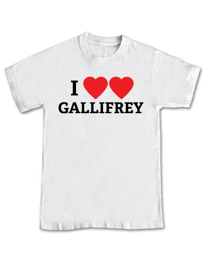 I Heart Gallifrey Geek T-Shirt (S – Small, White)
