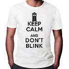 Keep Calm And Don't Blink T-Shirt Doctor Who Tardis