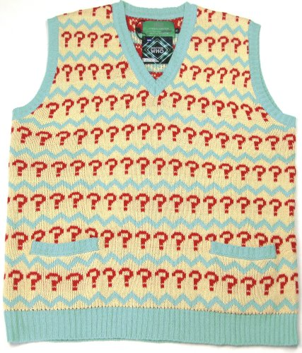 Extra Large Seventh Doctor (Sylvester McCoy) Jumper – Official BBC Doctor Who 7th Doctor Jumper Tank Top by LOVARZI