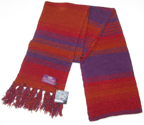 Doctor Who Scarf – Official BBC Doctor Who Season 18 Chenille Scarf – 4th Doctor Burgundy 12 feet long scarf by Lovarzi