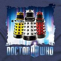 Doctor Who kids T shirt '3 Daleks' (dark navy) (Age 3-4)
