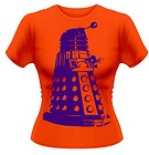 Doctor Who -Dalek Silhouette- girl's orange fit tee