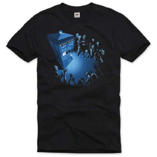 style3 Dr. Doctor Who T-Shirt Men doktor dalek dr who tardis time police box space tv, Size:2XL