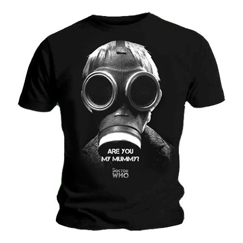 Official T Shirt Doctor DR WHO Black ARE YOU MY MUMMY? S