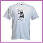 Doctor Who Style Dalek Happy Birthday Black logo Tee Shirt